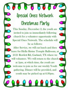 Special Ones Network Christmas Party